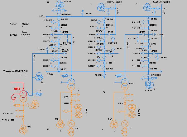 Главная электрическая схема